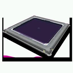 Concrete-Framed Glass Panel