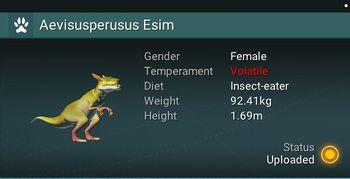 Aevisusperusus Esim