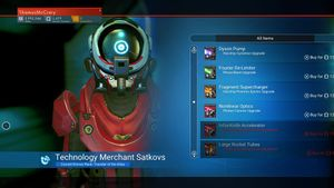 Korvax Starship Technology Merchant Satkovs