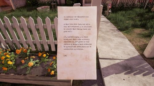 A letter from C.W.