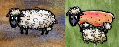 Woolly and Shorn Domestic Sheep