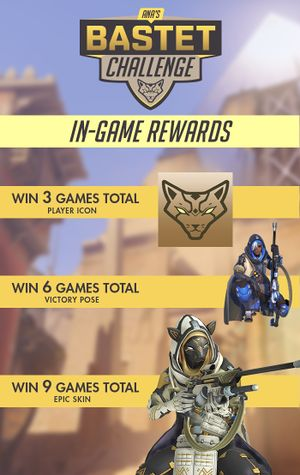 Chart of Ana's Bastet Challenge In-Game Rewards