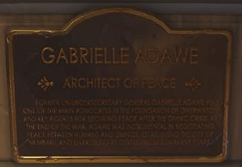 Gabrielle Adawe plaque.png