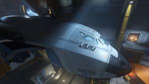 OSS-7 Aurora craft seen on Watchpoint: Gibraltar