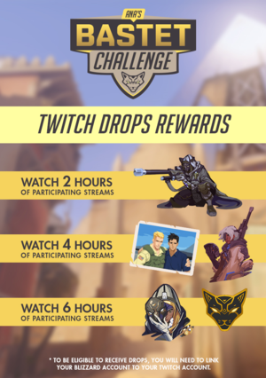 Chart of Ana's Bastet Challenge Twitch Rewards