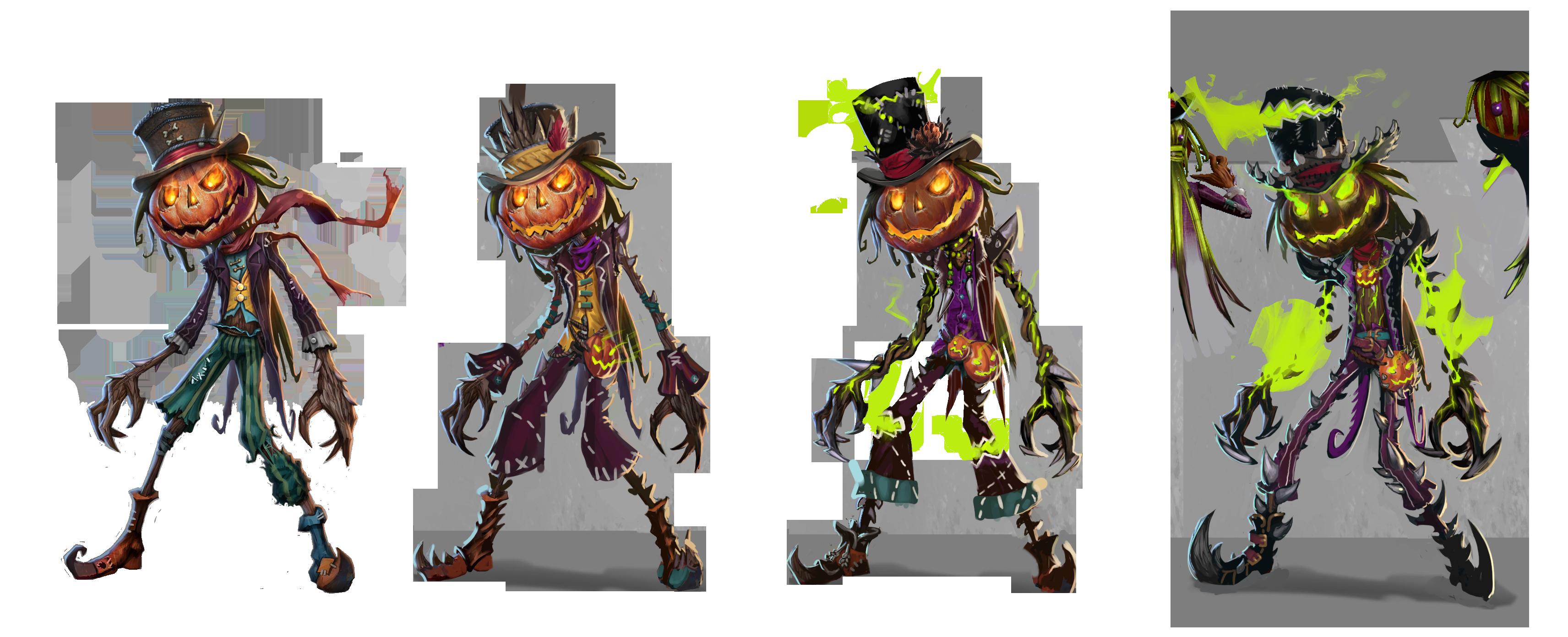 Jack Pumpkinhead evolution.png