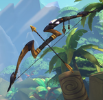 Sha Lin Weapon Golden Long Bow.png