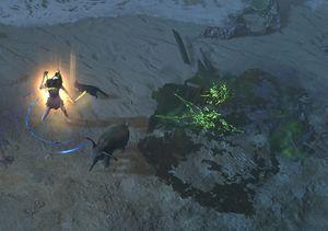 Caustic Arrow skill screenshot.jpg