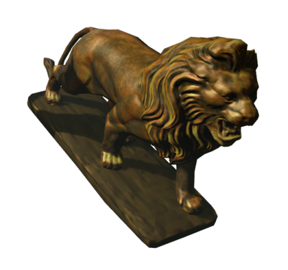 In game appearance of the lion with high texture quality.