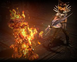 Призыв голема огня skill screenshot.jpg
