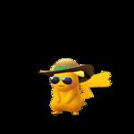 Pikachu female summer shiny.png