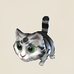 Striped Black-White Cat Icon.png