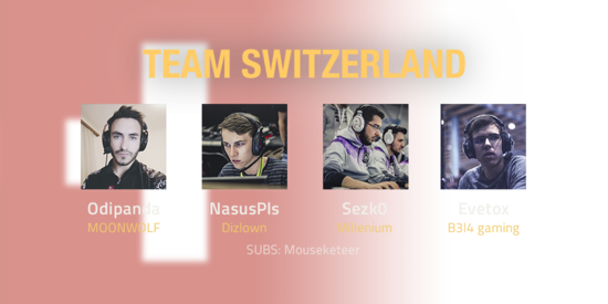 Team Switzerland 2018 Roster