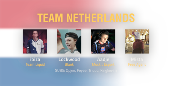 Team Netherlands 2018 Roster