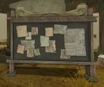Divided Plains' list board located in Fountain Town.