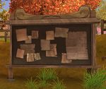 Maple Forest's list board located in Maple Village.