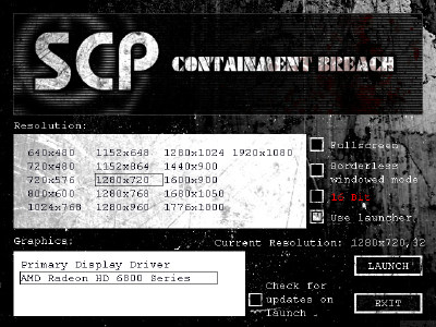Main Menu - Official SCP - Containment Breach Wiki