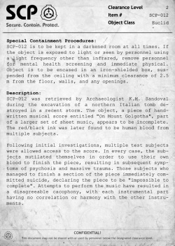 SCP Documents - Official SCP - Containment Breach Wiki