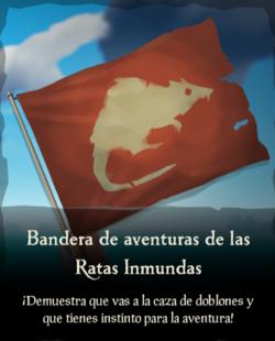 Bandera de aventuras de las Ratas Inmundas.png