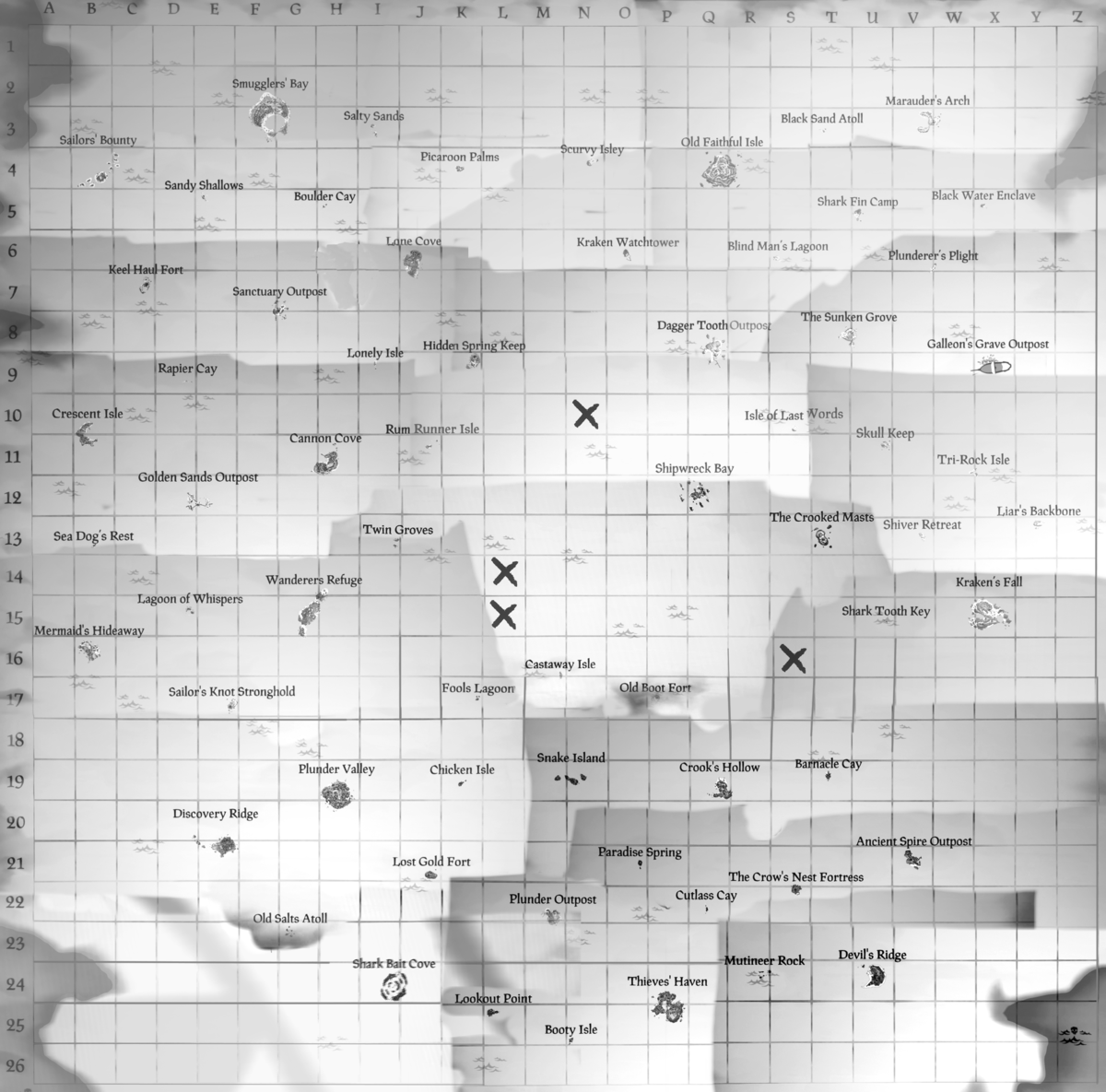 Map Table   Sea of Thieves Wiki