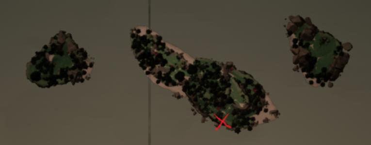 Three Skull Warning on the map
