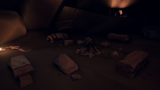 The Campfire in the Cave