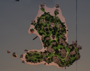 Sunstone in the bay on the map