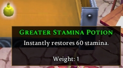 Greater Stamina Potion