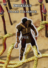 Decessus the Snake Charmer