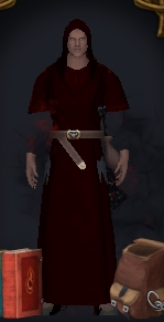 player wearing dropped robe