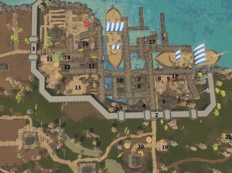 Map of Pyros' Landing