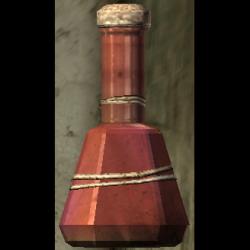Homemade potion bottle