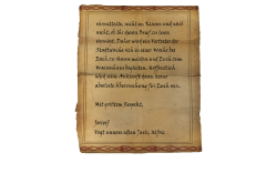 ability the read the letter I am currently composing. Therefore, a member of the city guard will call upon you in one week, at your home, and provide escort to the orphanage. Hopefully, his arrival will not come as a complete shock. With greatest respect, Jorleif Steward to our most noble jarl, Ulfric Stormcloak