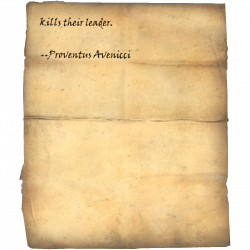 jeden, der ihren Anführer tötet. --Proventus Avenicci