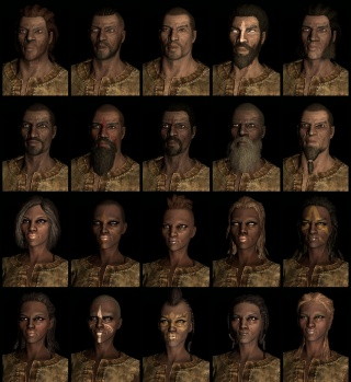 Redguard human race face compilation.