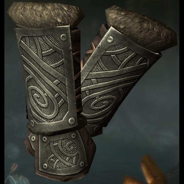 Image result for steel nordic gauntlets