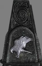Hawk glyph pillar