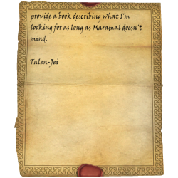 provide a book describing what I'm looking for as long as Maramal doesn't mind. / Talen-Jei