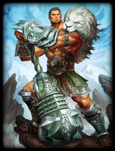 Lion of Olympus Skin card