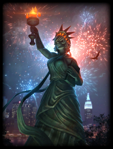 Lady Liberty Skin card