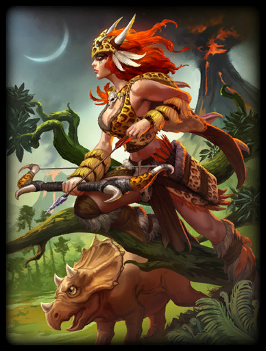 Primal Huntress Skin card