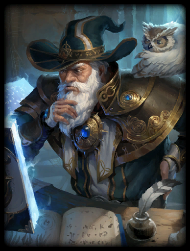 Wise Wizard Skin card