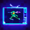 Pixel Buster Jump Stamp