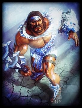 Lion of Olympus skin card