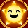 Happy Sun Jump Stamp