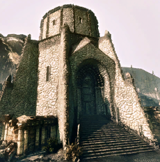 Bibliothèque en ruines