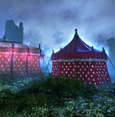 Campement du convoi du camp