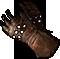 Gantelets longs en cuir cloûté