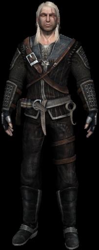 Geralt avec l'armure de Corbeau