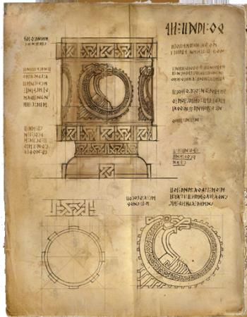Schéma de la coupe de Saskia